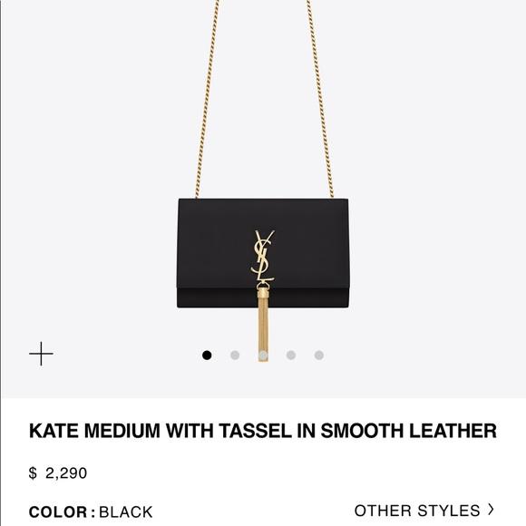 Saint Laurent Handbags - Saint Laurent Kate Medium with Tassel